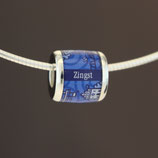 Zingst-Bead (Collier) aus 925-Sterlingsilber - Farbe: blau