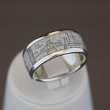 Zingst-Ring aus 925-Sterlingsilber und Hightech Ceramic - Farbe: weiß