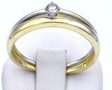 Damenring aus 333-Gold in bicolor mit Zirkonia  001/63/Z/GW/333