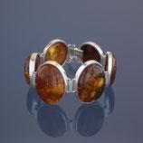 Armkette aus 925-Sterlingsilber und baltischen Naturbernsteinen