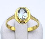 Damenring aus 333-Gelbgold poliert mit Aquamarin  022/58/AQ/GG/333