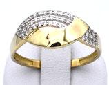 Damenring aus 333-Gelbgold poliert mit Zirkonia  001/64/Z/GG/333