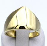 Damenring aus 333-Gelbgold mattiert/poliert 019/58/GG/333