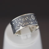 Zingst-Ring aus geschwärztem 925-Sterlingsilber