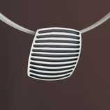 Anhänger (Collier) aus oxidiertem 925-Sterlingsilber