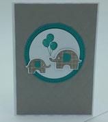 "Karte ""Elefanten mit Luftballon"""