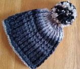 Winter-Mütze schwarz-grau