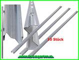 10 Z-Profil Zaunpfosten 2 m verzinkter Stahl