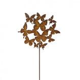 """Gratis VERSAND - Metall Stecker """"Schmetterling Schwarm"""", H120cm"""