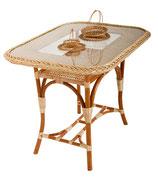 Стол плетеный обеденный.