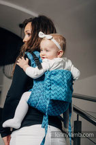 Onbuhimo Lenny Lamb Toddler COULTER NAVY BLUE & TURQUOISE