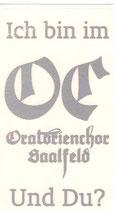 Aufkleber Oratorienchor Saalfeld