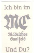 Aufkleber Mädelchor Saalfeld