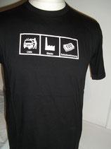 Basic-Shirt, Liebe Glaube Selbstbestimmung, fairwearfoundation
