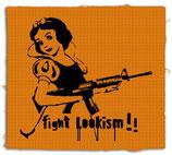 fight lookism, aufnäher