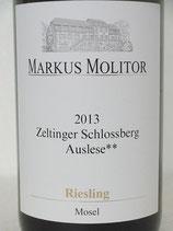 2013 Zeltinger Schlossberg Riesling Auslese** goldene Kapsel Markus Molitor