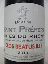 2019 Domaine Saint Préfert Clos Beatus Ille Côtes du Rhône AOC