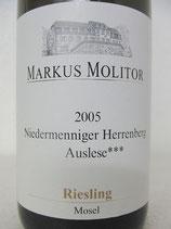 2005 Niedermenniger Herrenberg Riesling Auslese*** goldene Kapsel Markus Molitor