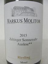2015 Zeltinger Sonnenuhr Riesling Auslese** goldene Kapsel Markus Molitor