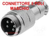CONNETTORE 5 POLI MASCHIO