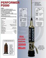 P-2000 SIRIO PERFORMER ANTENNA 27 MHZ 27 ... 30 MHz 2000 Watt