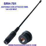 SRH-701M sma FALKOS  antenna vhf-uhf