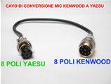 Cavo adattatore 8 pin Kenwood  out 8 pin Yaesu