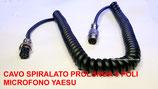 Cavo spiralato 8 poli prolunga per microfono Yaesu