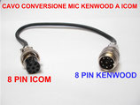 Cavo adattatore 8 pin Kenwood  out 8 pin Icom