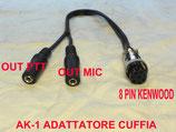 AK-1 adattatore da 8 pin apparato kenwood a cuffia microfono - ptt