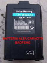 BL-5L Batteria alta capacita per Baofeng 7,4 V 2800 mAh