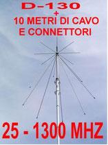 D-130 ANTENNA BASE DISCONE COMPLETA DI 10 METRI DI CAVO