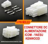 CONNETTORE 6 PIN ICOM - YAESU - KENWOOD