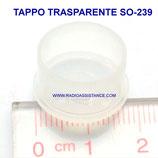 TAPPO TRASPARENTE PVC  PER SO-239 E CONNETTORI N