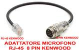 Cavo adattatore 8 pin rj-45 Kenwood
