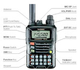 Yaesu VX-6 Ricetrasmettitore VHF UHF resistente all'acqua