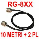 RG8XX Cavo doppio schermo 10 metri + due PL-259 installati