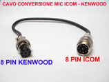 Cavo adattatore 8 pin Icom out 8 pin Kenwood