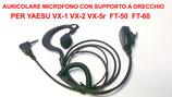 PJD-1304c PROXEL MICROFONO AURICOLARE CONSUPPORTO ORECCHIO PER YAESU