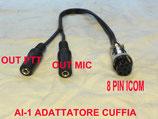 AI-1 adattatore da 8 pin apparato Icom a cuffia microfono - ptt