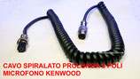 Cavo spiralato 8 poli prolunga per microfono Kenwood