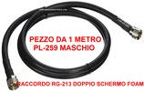 Raccordo da 1 metro di RG-213 FOAM DOPPIO SCHERMO