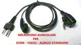 PJD-1201S PROXEL MICRO AURICOLOARE CAVO LISCIO ICOM- YAESU - STANDARD