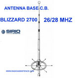 SIRIO BLIZZAR 2700 - ANTENNA 5/8   27 MHZ CB - 5/8 LUNGH. 6,7 MT + KIT
