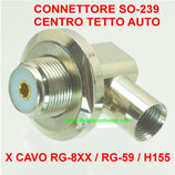 CONNETTORE DA SALDARE SO-239 ANGOLARE CENTRO TETTO ANTENNA AUTO PER CAVO RG-59