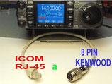 Cavi adattatore rj-45 Icom a 8 Pin Kenwood conversione diretta