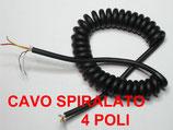 Cavo spiralato microfonico 4 poli