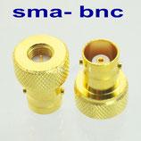 Adattatore SMA maschio BNC FEMMINA versione gold