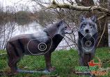 "Natur Foam ""Loup debout"" Wolf"
