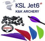 "K&K  Archery Vanes KSL Jet 6 - 50Stck. - 1,75"""